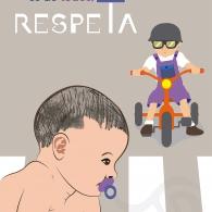 """""""La vía es de todos, respeta"""". Cartel DGT / Festival MULAFEST"""
