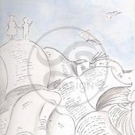 """Boceto """"Feria del libro de Guadalajara, 2014"""". Cartel para el Concurso de carteles Arriversos (Guadalajara)"""