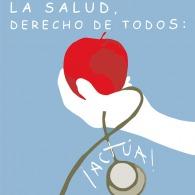"""""""La salud, drecho de todos: ¡Actúa!"""". Cartel para Concurso de carteles Manos Unidas"""