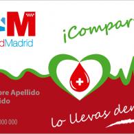 Tarjeta Donante de Sangre
