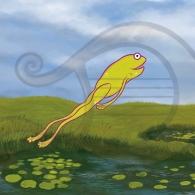 La rana Chiclota contenta