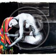 Mujer de la toalla
