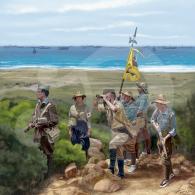 Legionarios en el Desembarco de Alhucemas 1925
