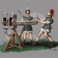 Escorpión (Scorpio) y artilleros romanos de época republicana (Teruel)